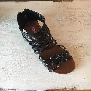 Candie's  Black Gladiator Sandles